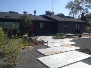 Custom ranch home remodel Encinitas CA landscaping