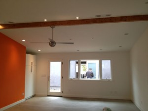 Custom living room remodel with lighting and storage Encinitas CA