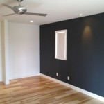 Custom home remodel, wood floors and accent wall Encinitas CA
