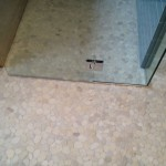 Pebble tile floor Custom bathroom remodel in Encinitas, CA