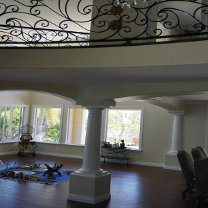 Carlsbad residential builder Interior pillar design living room Home remodel and addition