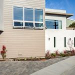 new modern contemporary driveway exterior