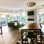 new residential build contemporary dining living area