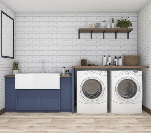 custom home, laundry room